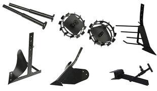 Комплект насадок для FJ500 (грунтозацепы, удлинитель, плуг, картофелевыкапыватель, окучник, сцепка) в Большой Каменье